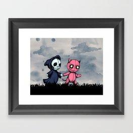 Best Hell Friends Framed Art Print