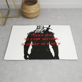 Toss a coin to your witcher Rug