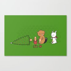 Beavers ruin Christmas Canvas Print