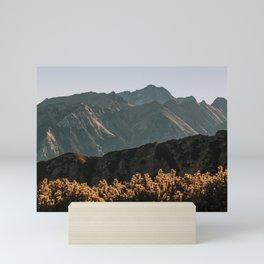 Autumn Peaks - Landscape and Nature Photography Mini Art Print