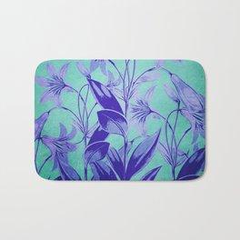 Indigo Lily Garden Bath Mat
