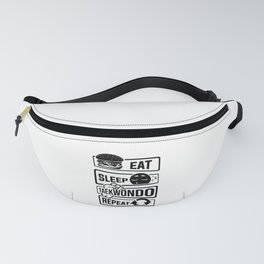 Eat Sleep Taekwondo Repeat - Martial Arts Fanny Pack