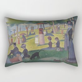 A Sunday Afternoon on the Island of La Grande Jatte (High Resolution) Rectangular Pillow