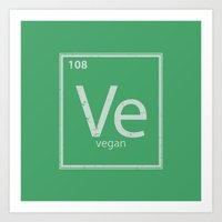 vegan Art Prints featuring VeGan by Eddie Loven