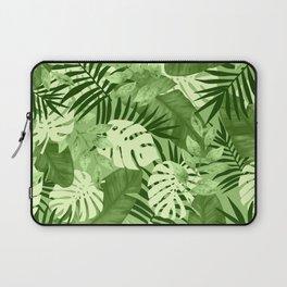 Green Tropical Leaves Pattern Laptop Sleeve