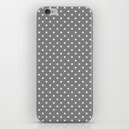 Dots (White/Gray) iPhone Skin