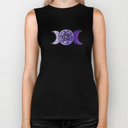 Triple Moon Pentagram Biker Tank