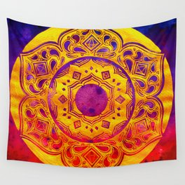 """SACRED GEOMETRY"" WATERCOLOR MANDALA (HAND PAINTED) BY ILSE QUEZADA Wall Tapestry"