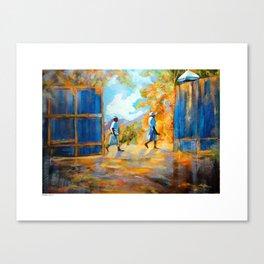 The Blue Gates /Haiti Canvas Print