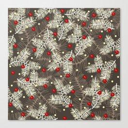 Winter Pattern Grey Canvas Print