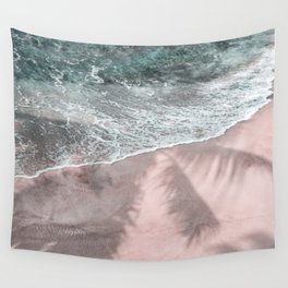 Pink Paradise Beach Wall Tapestry