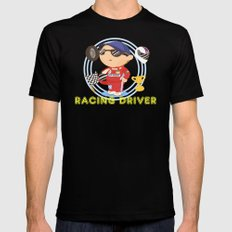 Racing Driver Mens Fitted Tee MEDIUM Black
