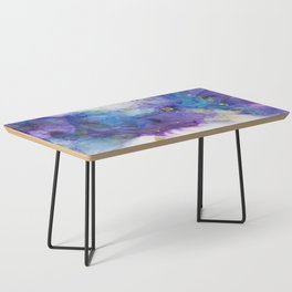 Make a Wish Alcohol Ink Painting Coffee Table