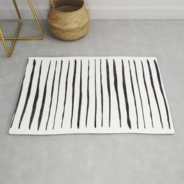 Black Ink Linear Experiment Rug