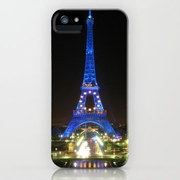 Scenic Eiffel Tower at Night iPhone Case