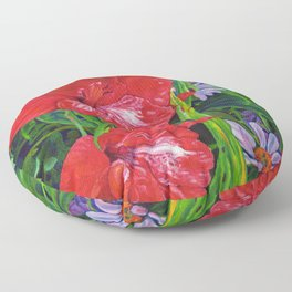 Gladiola's and Echinacea Floor Pillow