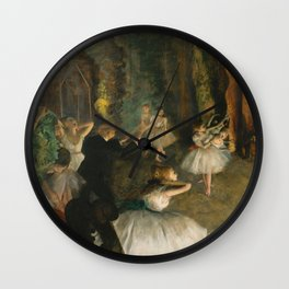 "Edgar Degas ""The Rehearsal of the Ballet Onstage"" Wall Clock"
