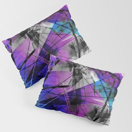 Lines of Departure - Futuristic Geometric Abstract Art Pillow Sham