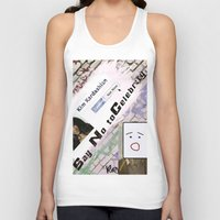 kardashian Tank Tops featuring Say No to Celebrity - Kim Kardashian by artistically challenged