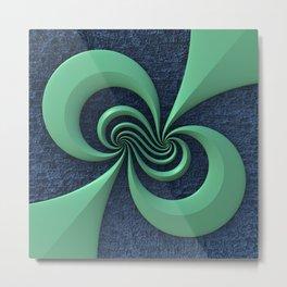 Green on Blue Metal Print