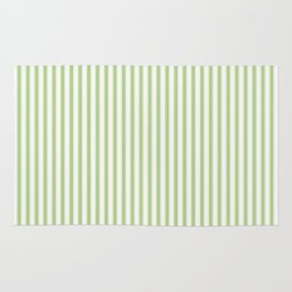 Color of the Year 2017 Greenery and White Mattress Ticking Stripes Rug