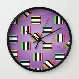 Glitch Allsorts Wall Clock