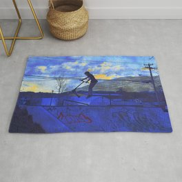 Scooter Sunset Rug