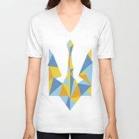 ukraine V-neck T-shirts featuring Ukraine Geometry by Sitchko Igor