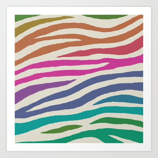 wildlife dreamcoat - zebra 1 Art Print