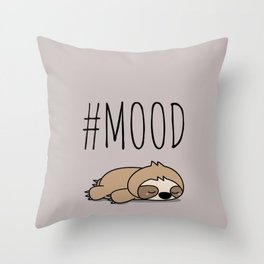 #MOOD - Sleepy Sloth Throw Pillow