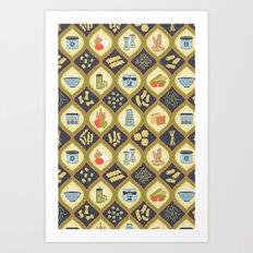 Pasta Fun Pattern Art Print