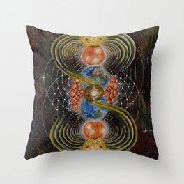 Solar Prayer Throw Pillow