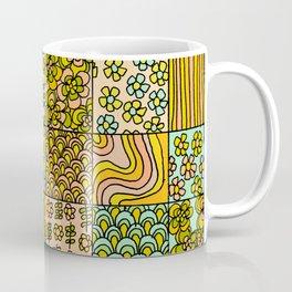 patchwork dreams retro flower quilt dreams of waves Coffee Mug