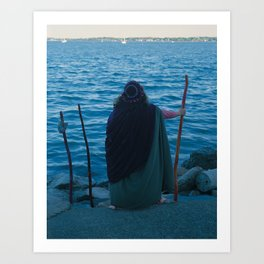 3 of Wands Art Print