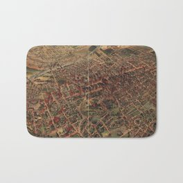Vintage Pictorial Map of Los Angeles (1891) Bath Mat