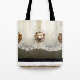 Three Lions Fountain Tote Bag