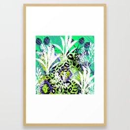 Electric Jungle  Leopard Framed Art Print