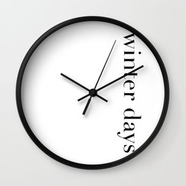 Winter days Wall Clock