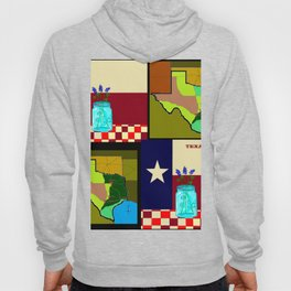 A Texas Quilt, State Flag and Blue Bonnets Hoody