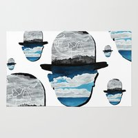 magritte Area & Throw Rugs featuring Ceci n'est pas une Magritte by Condor