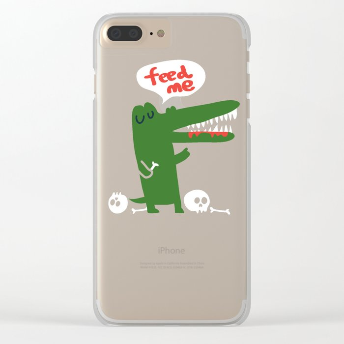 Hungry Hungry Alligator Clear iPhone Case
