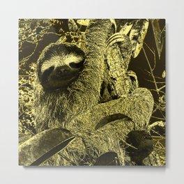 glowing Sloth Metal Print