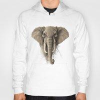 elephant Hoodies featuring Elephant by Rafapasta