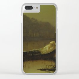 The Lady of Shalott by John Atkinson Grimshaw Clear iPhone Case