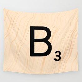 Scrabble Letter B - Large Scrabble Tiles Wall Tapestry