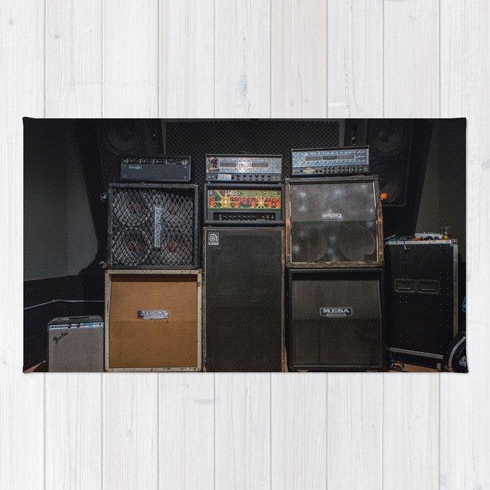 Heavy Metal Amp Stack Rug