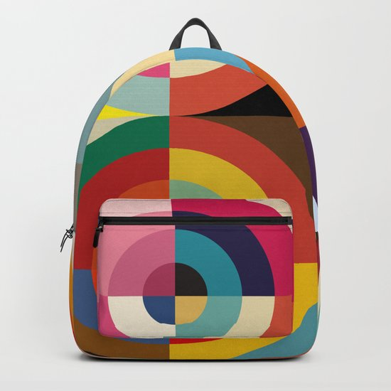 4 Seasons - Colorful Classic Abstract Minimal Retro 70s Style Graphic Design by alphaomega