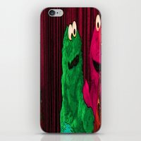 elmo iPhone & iPod Skins featuring Will the real Elmo please stand up? by Ashley marshall Estabrook