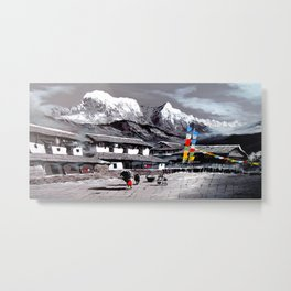 Panoramic View Of Everest Base Camp Metal Print