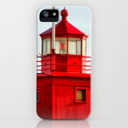 Big Red Lighthouse iPhone Case